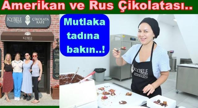 AMERİKALI VE RUS KADINLAR ORDU'DA ÇİKOLATA YAPTILAR..