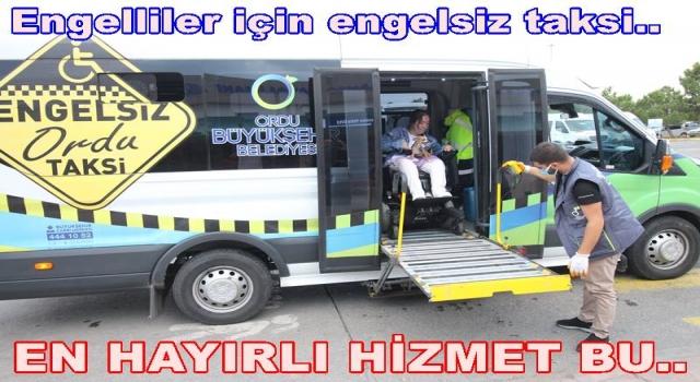 ENGELLİ AİLE YİNE ENGELLSİZ TAKSİ'Yİ TERCİH ETTİ..
