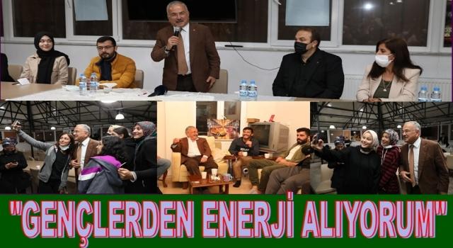 Başkan Hilmi Güler, kız ve erkek öğrenci yurtlarını ziyaret etti..