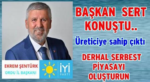 """BAŞKAN ŞENTÜRK, """"FINDIK SOYGUNUNA DUR DEYİN!.."""""""