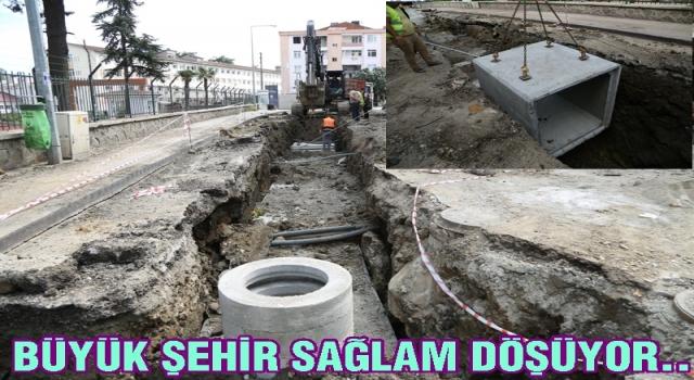 Büyük Şehir Altınordu'da alt yapı çalışmalarına ağırlık verdi..