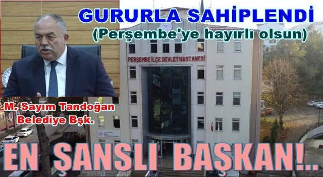 Vali ile Sağlık müdürünün veremediği müjdeyi Tandoğan verdi..