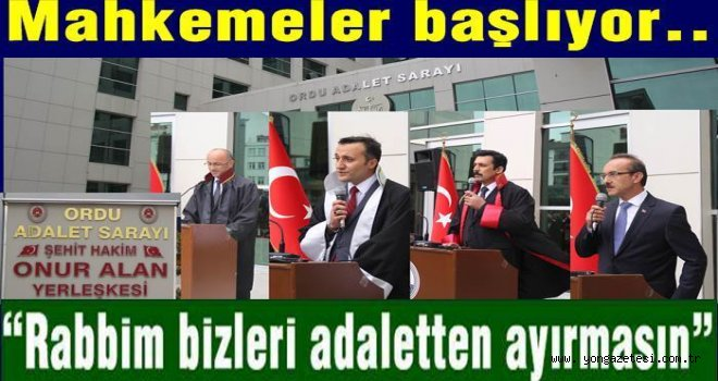 ADLİ YIL TÖRENLE AÇILDI..