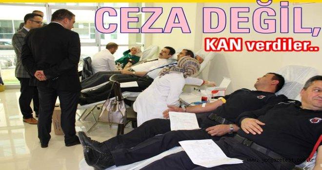 Adliye çalışanları kan bağışında bulundular..