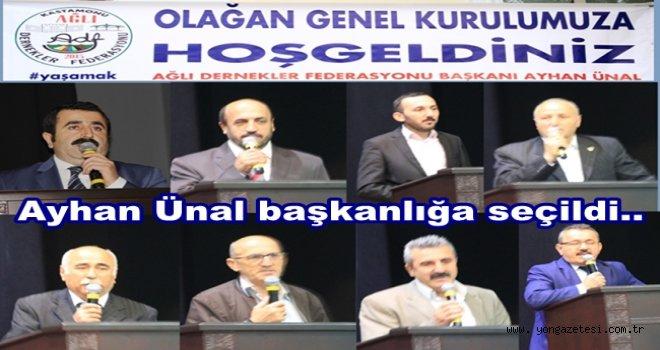 AĞLI DERNEKLER FEDERASYONU GENEL KURULUNU YAPTI..