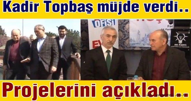 Ak Parti ilçe teşkilatı başkan Kadir Topbaş'ı ağırladı..