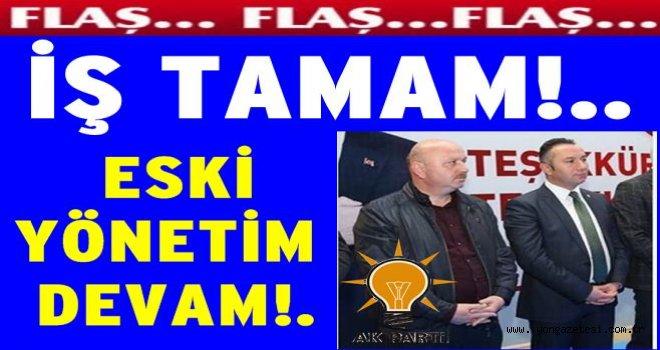 AK Partide Ordu eski yönetimi göreve devam edecek..