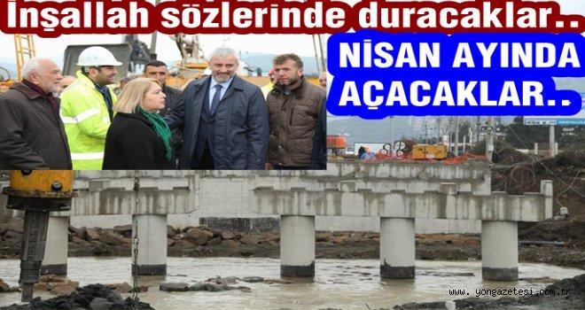 Akçaova köprüsü nisan ayında hizmete girecekmiş..