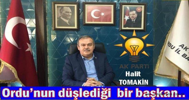 AKP İl başkanı Halit Tomakin Cumhuriyet bayramı mesajı yayınladı..