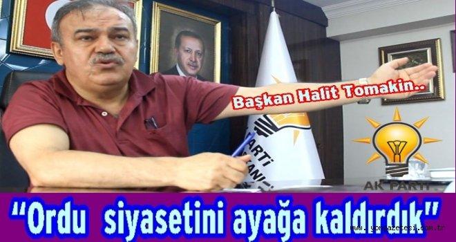 """AKP İl başkanı Tomakin, """"Tarihi bir başarı elde ettik"""""""