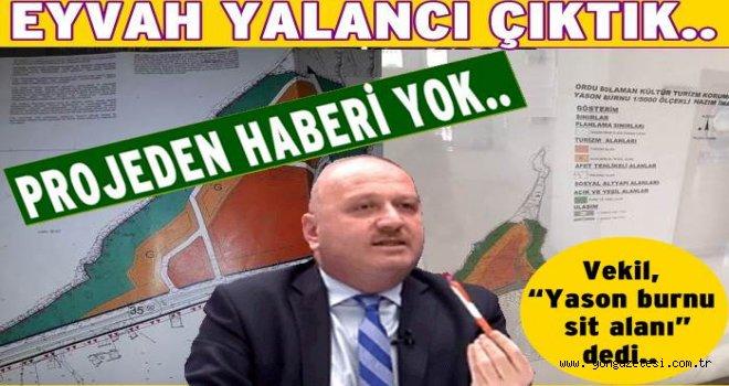 AKP Milletvekilinin projeden bile haberi yokmuş..