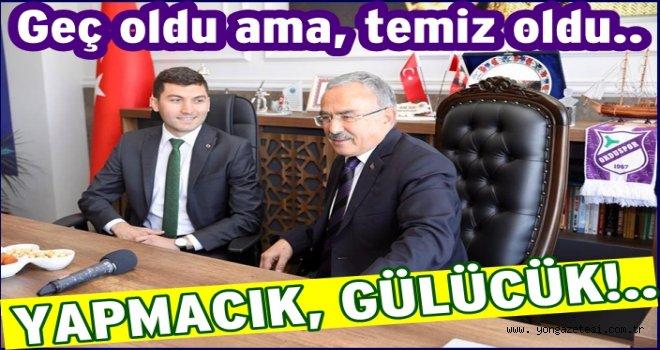 AKP'li başkandan CHP'li başkana ziyaret..