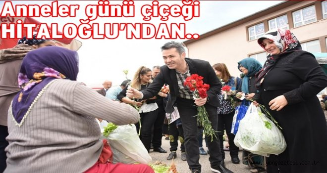 Altınordu belediyesi çocuklara 'ANNELER GÜNÜ' çiçeği dağıttı..