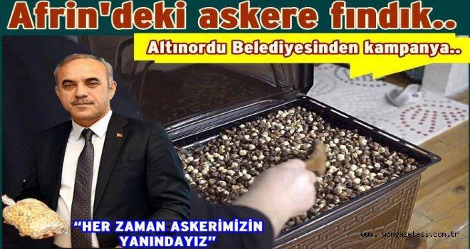 Altınordu Belediyesinden 'kavrulmuş fındık' kampanyası..