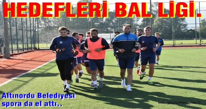 Altınordu Belediyespor yeni sezon hazırlıklarına devam ediyor.