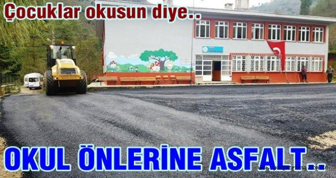 Altınordu'dan eğitime asfalt döşeme desteği..