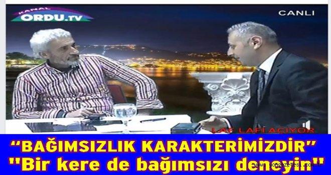 Altınordu'ya bağımsız başkan adayı..