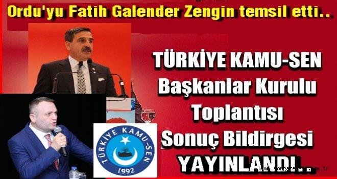 Antalya toplantısında sonuç bildirgesi yayınladılar..
