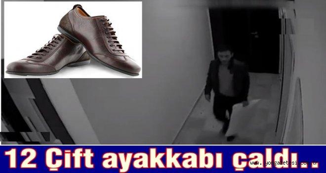 Apartmanlardan 12 çift ayakkabı çaldı..