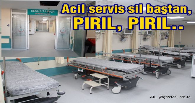 Araştırma Hastanesi acil servis yenilendi..