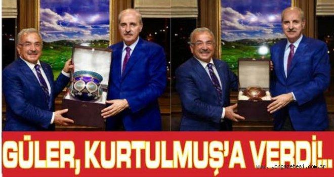 Başkan Güler, Kurtulmuş'a hediye takdim etti..