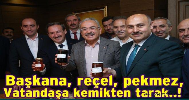 Başkan Güler'e Reçel, Pekmez ve Peynir geldi..