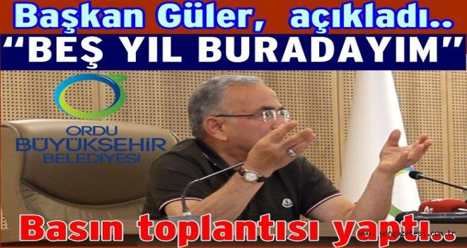 Başkan Hilmi Güler, çatır, çatır konuştu..