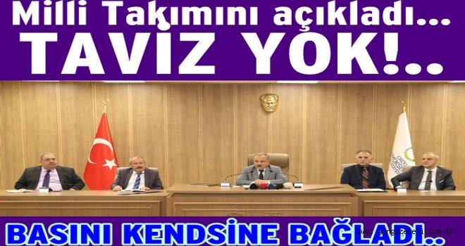 Başkan Hilmi Güler', takımı kurdu.. Sırada maç var..