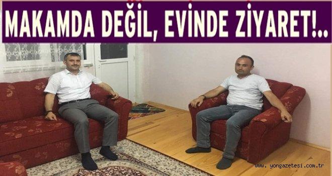 Başkan Hüseyin Semiz'den örnek ev ziyaretleri..
