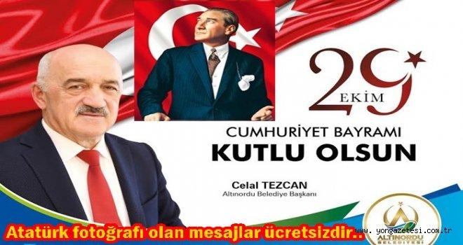 Başkan Tezcan Cumhuriyet bayramını kutladı..