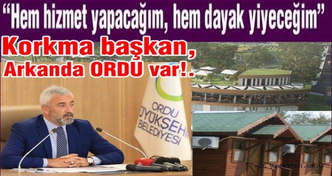 """BAŞKAN YILMAZ, """"ÇAMLIK PROJESİ'NDEN VAZGEÇTİK"""""""