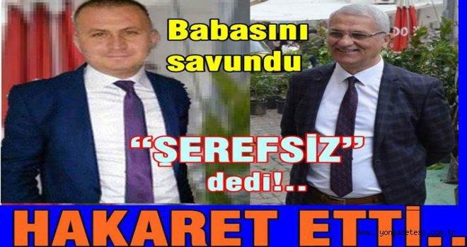 """Belediye başkanının oğlu Gazeteciye """"ŞEREFSİZ"""" dedi.."""
