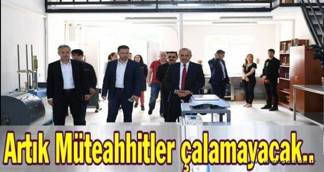BELEDİYE BETON LABORATUARI KURDU..