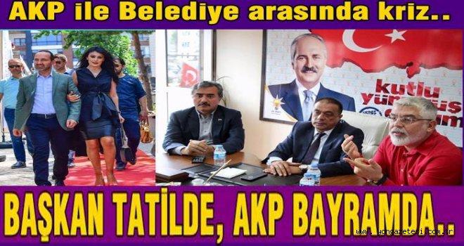 Belediye teşkilatı AKP'nin bayramlaşma törenine katılmadı..