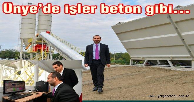 BETON SANTRALİ ÜRETİME BAŞLADI..