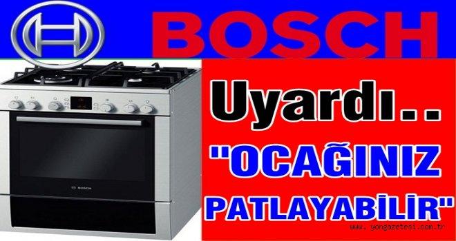 Bosch bazı ürünleri için uyarıda bulundu..