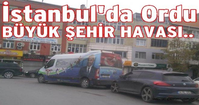 Büyük Şehir Belediyesinden Enver Yılmaz reklamı..