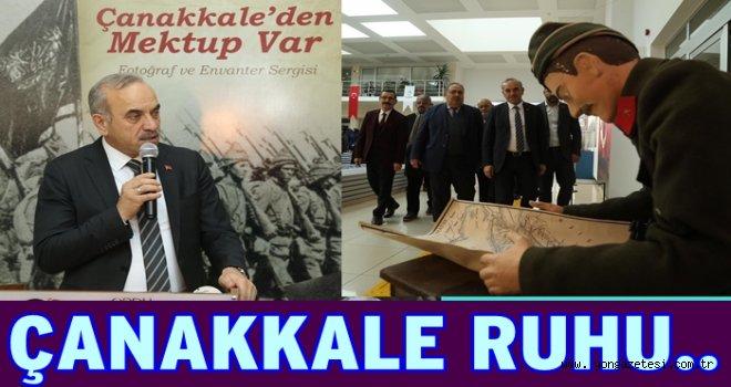 """""""ÇANAKKALE'DEN MEKTUP VAR"""" sergisi açıldı.."""