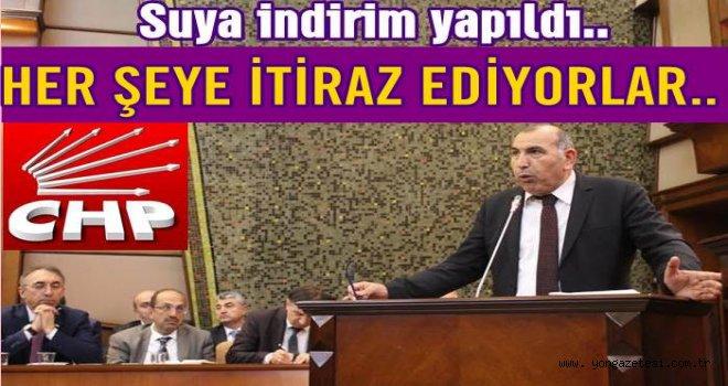 CHP Gurubu suya yapılan indirime itiraz etti..
