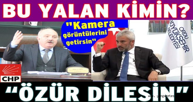 CHP İl başkanı Av. Atila Şahin'den yalanlama..
