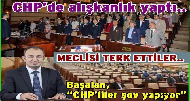 CHP Meclis üyeleri meclis oturumunu terk etti..