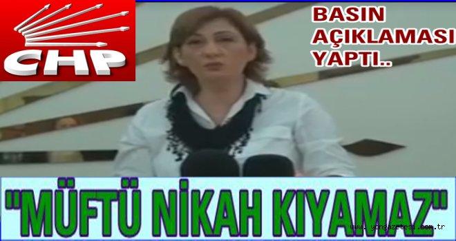 CHP'li kadınlar  Müftünün nikahına karşı direniyor..