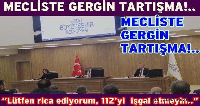 CHP'liler, Büyük Şehir Belediye meclisinde tartışma yarattı..