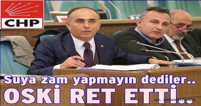 CHP'nin suya indirim önergesi ret edildi..