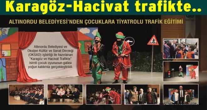 Çocuklardan tiyatrolu trafik eğitimi..