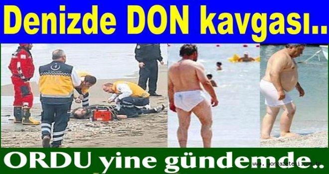 DON'la denize giren kişileri dövdüler..
