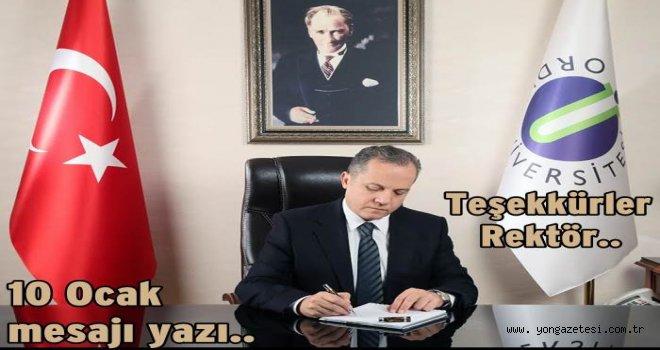 Dr. Tarık Yarılgaç'ın gazeteciler günü mesajı..