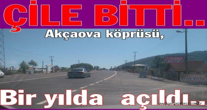 Efirli Akçaova köprüsü tarfiğe tamamen açıldı..