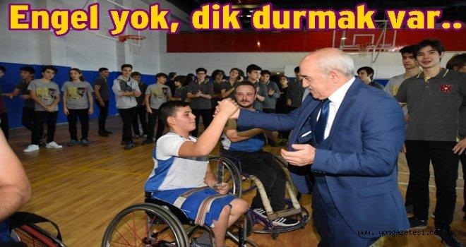 ENGELLİ SPORCULARDAN GÖSTERİ MAÇI..