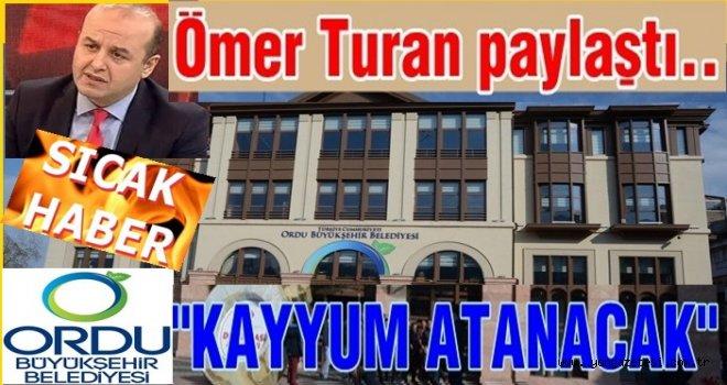 """Gazeteci Ömer Turan """"Büyük Şehire kayyum atanacak"""""""